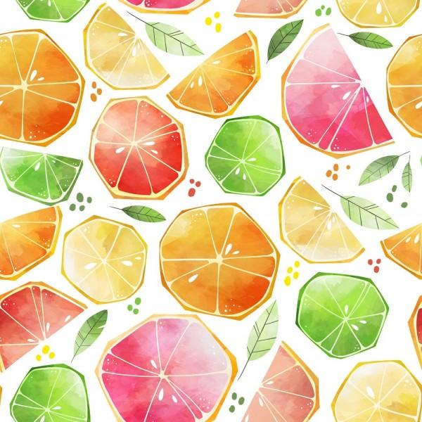 Fabrics/Floral/Citrus Watercolor Bild 1