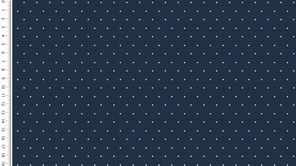 Stoffe/Basics/Sonstige/Jersey Punkte, marine Bild 1