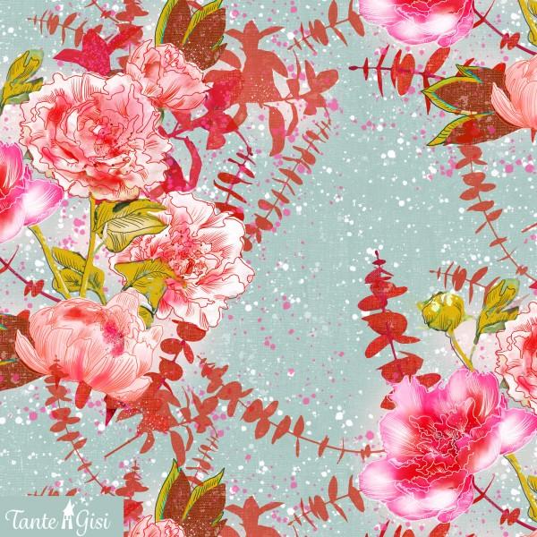 Fabrics/Designers/Tante Gisi/Blütenrausch Bild 1