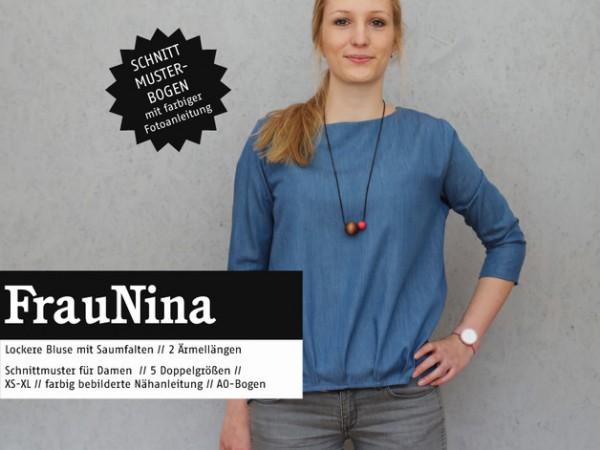 Schnittmuster/STUDIO SCHNITTREIF/Studio Schnittreif - Schnittmuster FrauNINA Bluse mit Saumfalten Bild 1