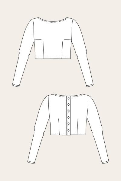 03-025 - Schnittmuster/Pattern Kanerva Button Back Shirt & Kanerva Button Bild 1
