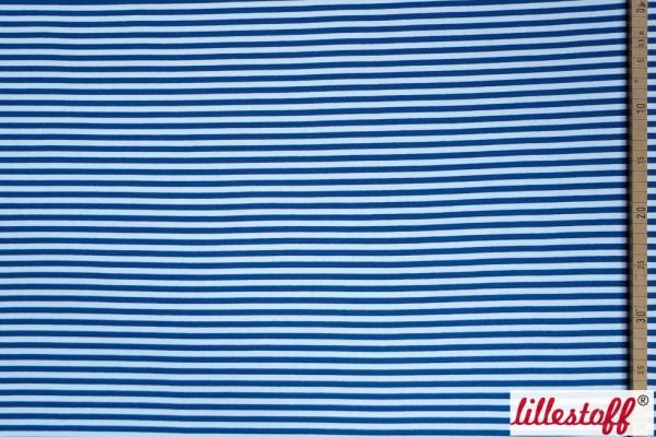 Stoffe/Basics/Bündchen Ringel/Bündchen/Ribbing, glatt/smooth, blau/weiß Bild 1