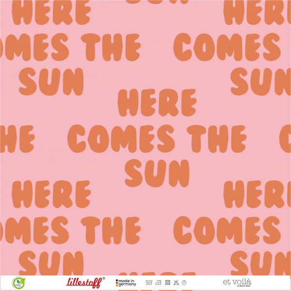 Stoffe/Designer/et voilà/Retrosummer Here Comes The Sun, big pink Bild 1