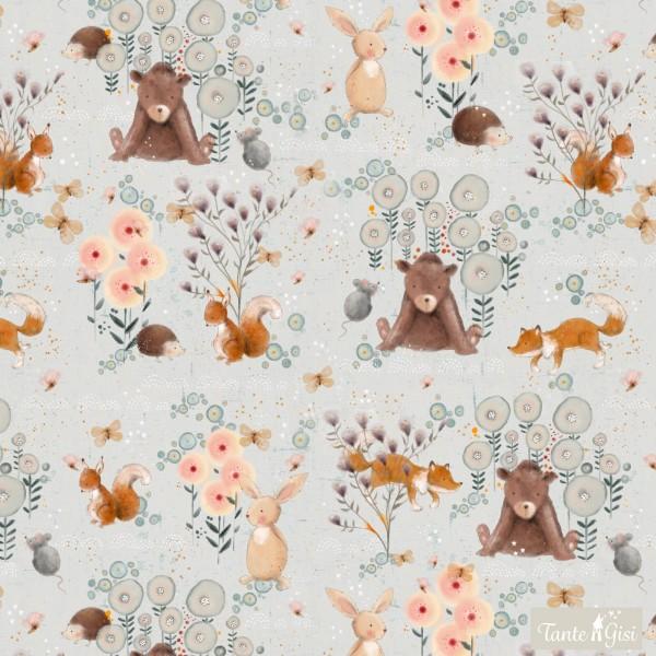 Fabrics/Designers/Tante Gisi/Paradies der kleinen Tiere Bild 1