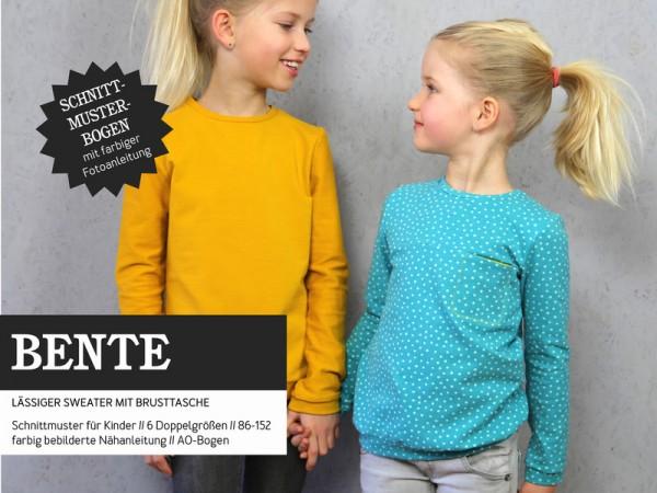 Schnittmuster/STUDIO SCHNITTREIF/Studio Schnittreif - Schnittmuster BENTE - Sweater mit Brusttasche Bild 1