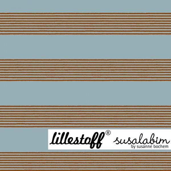 Fabrics/Designers/SUSAlabim/Basicstreifen blau braun Bild 1