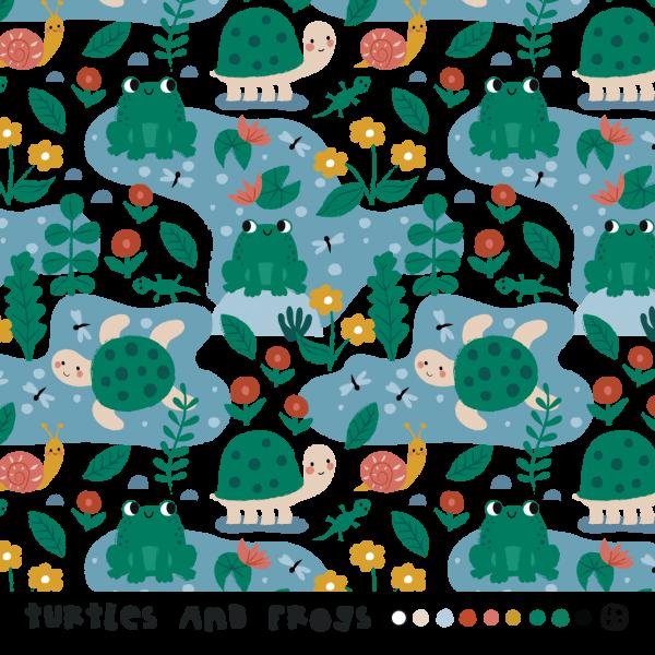 Stoffe/Designer/BORA/Turtles And Frogs Bild 1