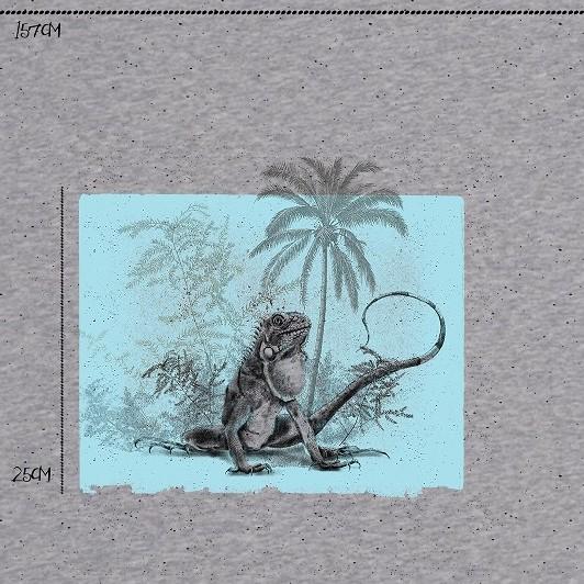 Fabrics/Designers/Tante Gisi/Leguan meliert Bild 1