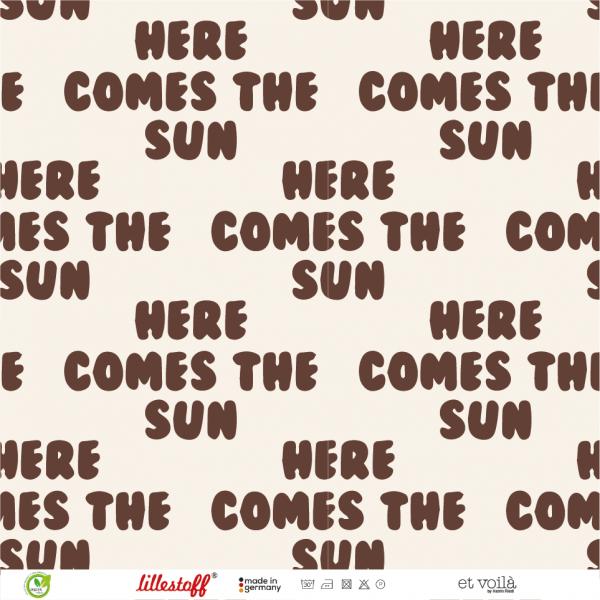 Stoffe/Designer/et voilà/Retrosummer Here Comes The Sun, small brown Bild 1