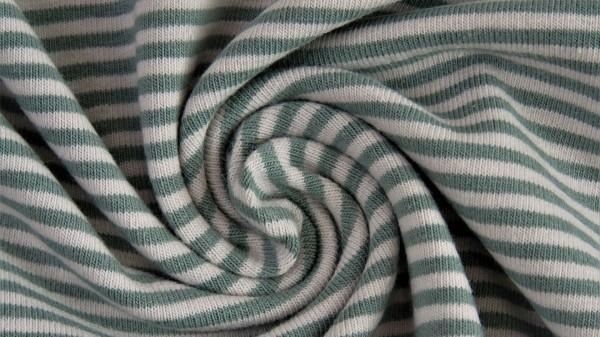 Stoffe/Basics/Ringeljersey, garngefärbt, altgrün, dunkel Bild 1