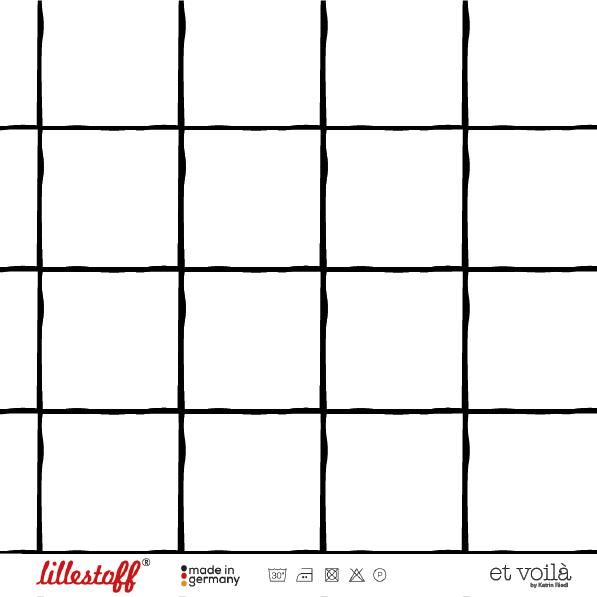 Fabrics/Designers/et voilà/Grid, schwarz-weiß Bild 1