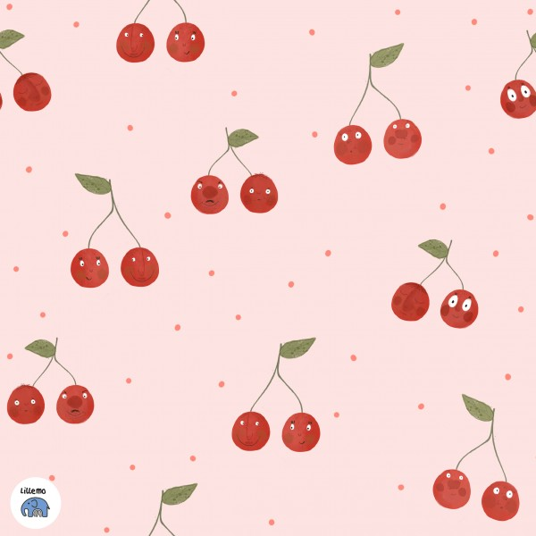 Fabrics/Designers/Lillemo/Verliebte Kirschen Bild 1