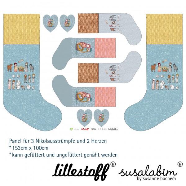 Stoffe/DIY-Bastelpakete/Susalabims Nikolausstrümpfe, Krippe XL Bild 1
