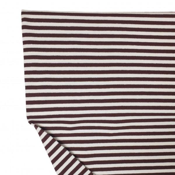 Fabrics/Basics/Striped Cuffs/Bündchen/Ribbing, glatt/smooth, braun/beige Bild 1