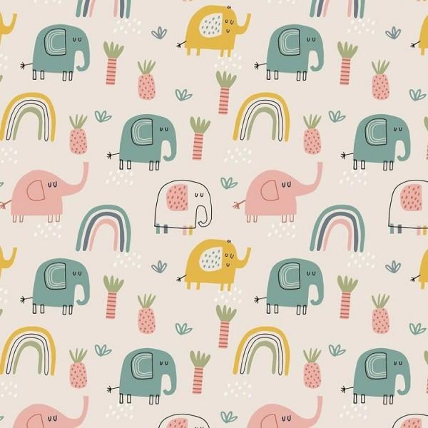 Fabrics/Animals/Elephants, sand Bild 1