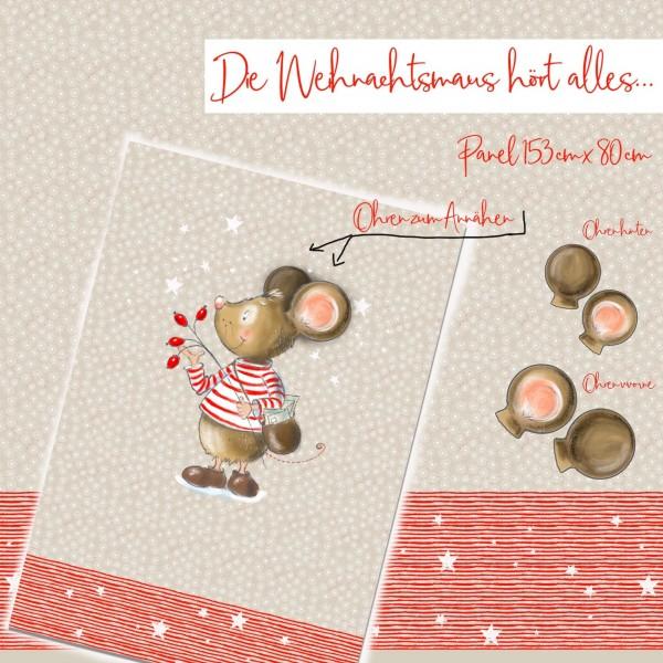 Fabrics/Designers/Tante Gisi/Die Weihnachtsmaus Hört Alles Bild 1