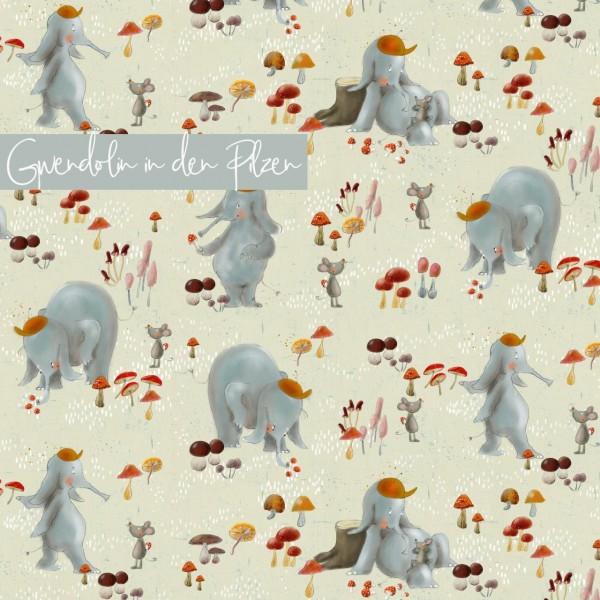 Fabrics/Designers/Tante Gisi/Gwendolin In Den Pilzen Bild 1