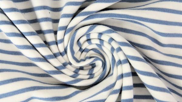 Fabrics/Basics/Stripes/Ringeljersey, jeansblau Bild 1