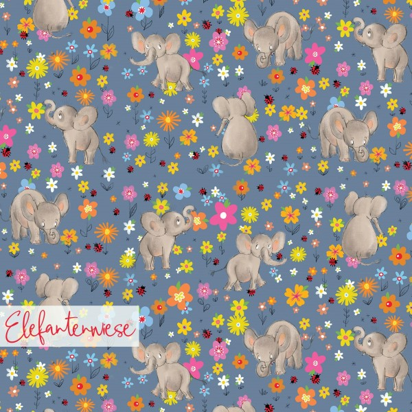 Fabrics/Designers/Tante Gisi/Elefantenwiese Bild 1
