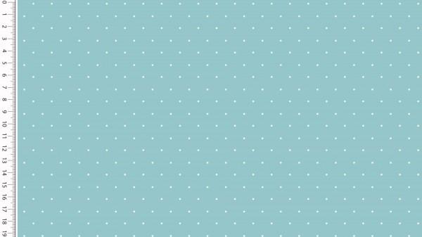 Stoffe/Basics/Sonstige/Jersey Punkte, minze, hell Bild 1