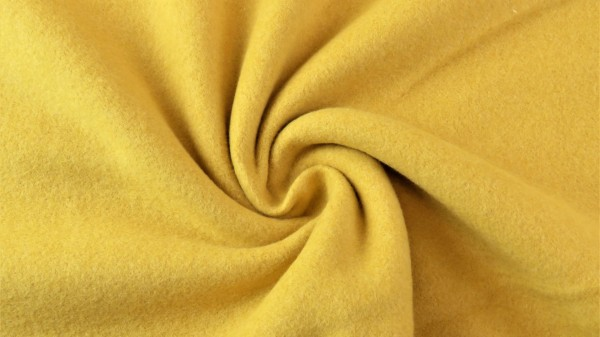 Fabrics/Basics/Solid Double Fleece/Double Fleece, ockergelb Bild 1