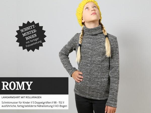 Pattern/STUDIO SCHNITTREIF/Studio Schnittreif - Schnittmuster ROMY Langarmshirt mit Rollkragen Bild 1
