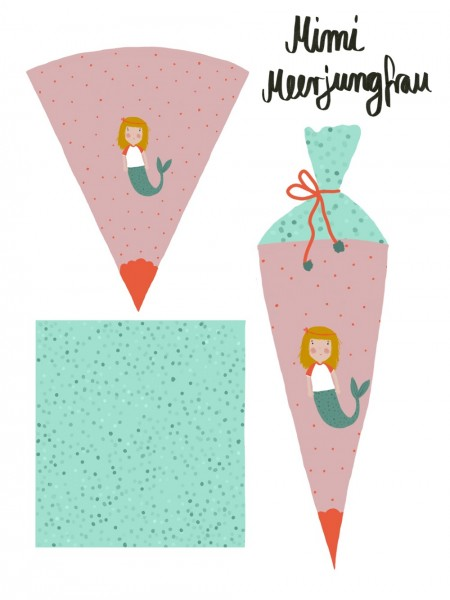 Stoffe/Designer/Lillemo/Schultütenset Mimi Meerjungfrau Bild 1