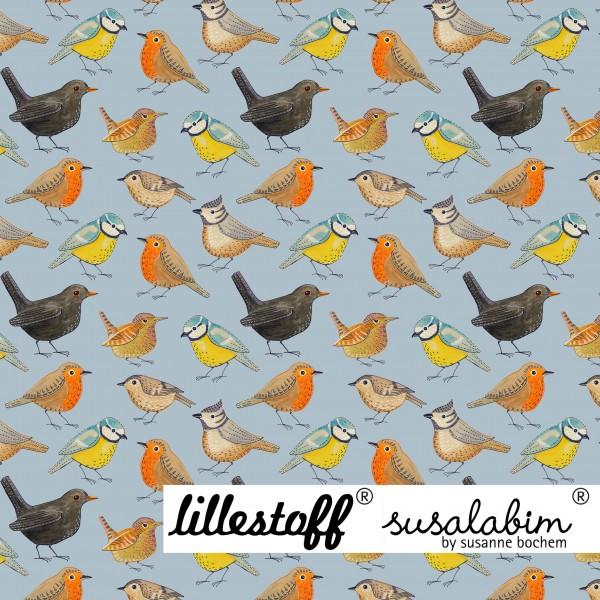 Stoffe/Designer/SUSAlabim/Susalabims Vögelchen, blau Bild 1
