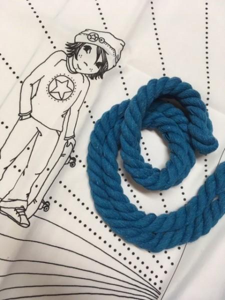 Fabrics/Designers/SUSAlabim/Mangaboy blau Turnbeutelset Bild 1