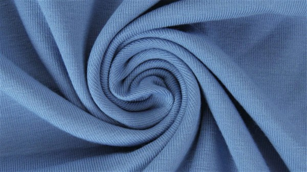 Stoffe/Basics/Sweat Uni/Summersweat Brushed, jeansblau Bild 1