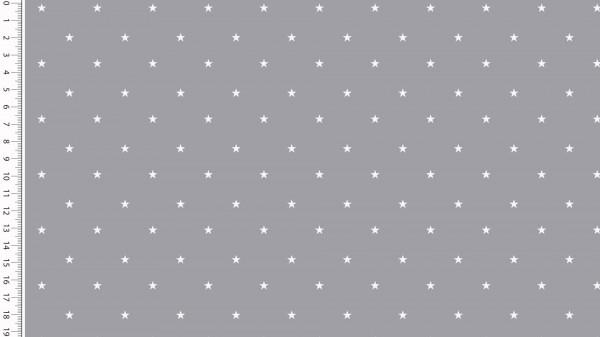 Stoffe/Basics/Sonstige/Jersey Sterne, grau Bild 1
