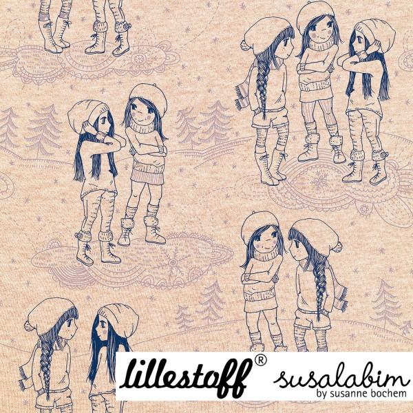 Fabrics/Designers/SUSAlabim/Susalabims Snowgirls, beige-meliert Bild 1