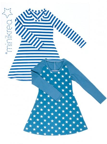 Schnittmuster/MiniKrea/SM70044- Schnittmuster/Pattern Raglan Jersey Kleid Bild 1