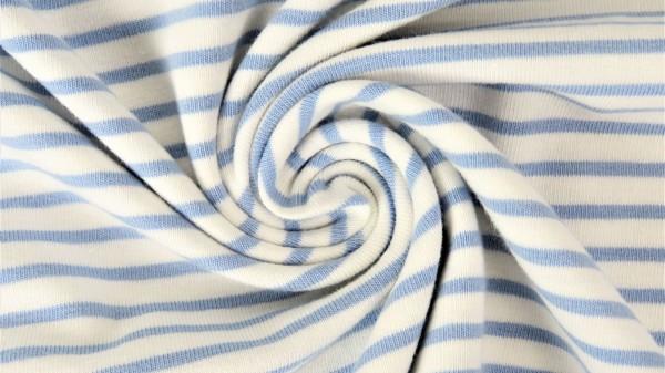 Fabrics/Basics/Stripes/Ringeljersey, hellblau Bild 1
