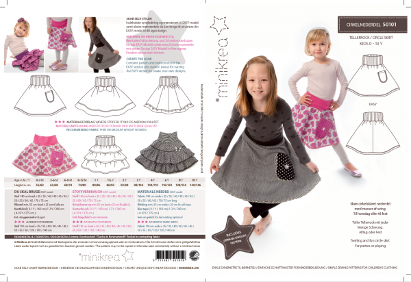 Pattern/MiniKrea/SM50101- Schnittmuster/Pattern Tellerrock/Circle Skirt Bild 1
