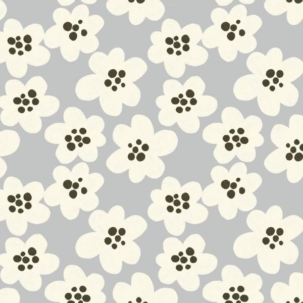 Fabrics/Designers/Enemenemeins/Streublumen BIG, steingrau Bild 1