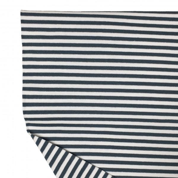 Fabrics/Basics/Striped Cuffs/Bündchen/Ribbing, glatt/smooth, grau/weiß Bild 1