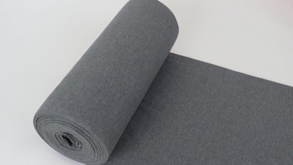 Fabrics/Basics/Solid Cuffs/Schlauchbd., grau-meliert Bild 1