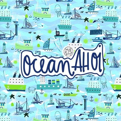 Fabrics/Designers/Miss Patty/Ocean Ahoi Bild 1