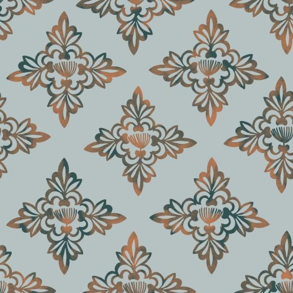 Stoffe/Grafisch/Hawaiian Breeze Mosaic, blau Bild 1