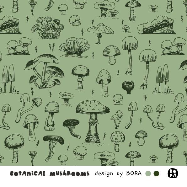 Stoffe/Botanical Mushrooms Bild 1