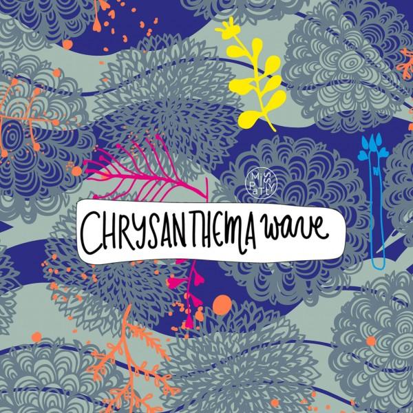 Stoffe/Designer/Miss Patty/Chrysanthema Wave Bild 1