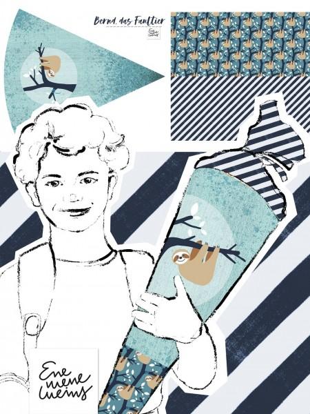 Fabrics/Designers/Enemenemeins/Schultütenset Faultier Bild 1