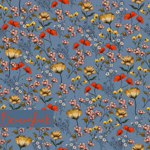 Stoffe/Designer/Tante Gisi/Bienenglück, rauchblau Bild 1