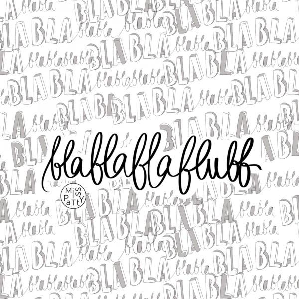 Fabrics/Designers/Miss Patty/Blablablablubb Bild 1