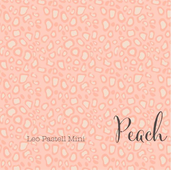 Fabrics/Designers/et voilà/Leo Pastell Mini, peach Bild 1