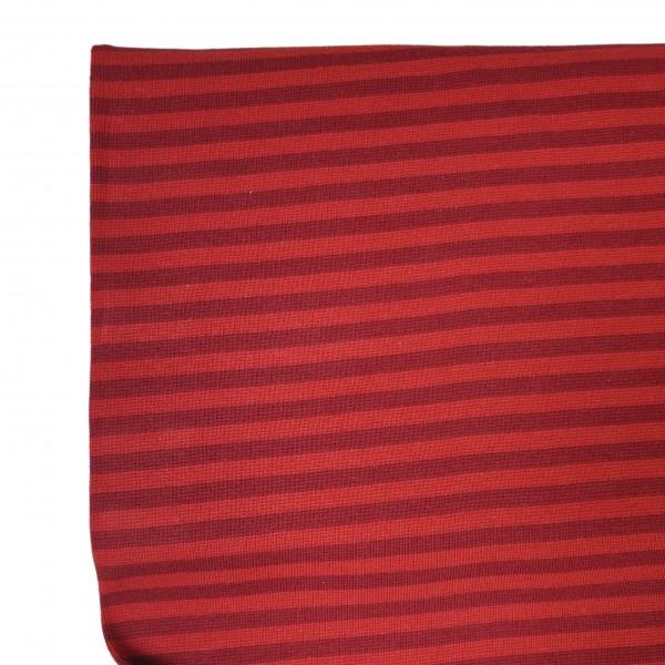 Fabrics/Basics/Striped Cuffs/Bündchen/Ribbing, glatt/smooth, rot/rot Bild 1