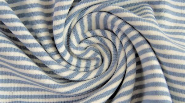 Stoffe/Basics/Ringeljersey, garngefärbt, jeansblau Bild 1