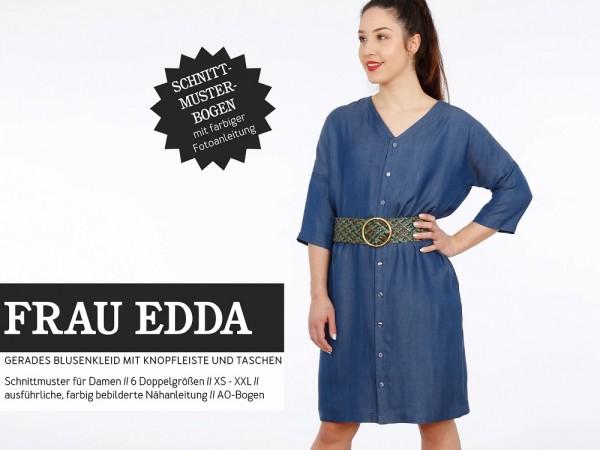 Pattern/STUDIO SCHNITTREIF/Studio Schnittreif - Schnittmuster FRAUEDDA gerades Blusenkleid mit Knopfleiste und Taschen Bild 1