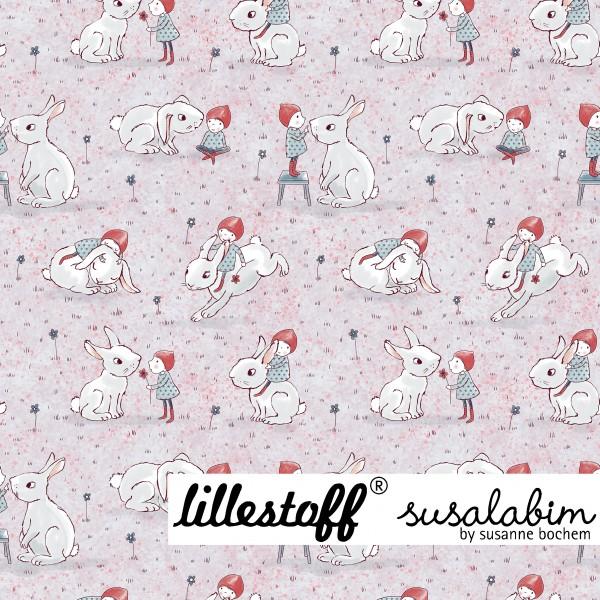 Fabrics/Designers/SUSAlabim/Susalabims Wichtel mit Hasen Bild 1